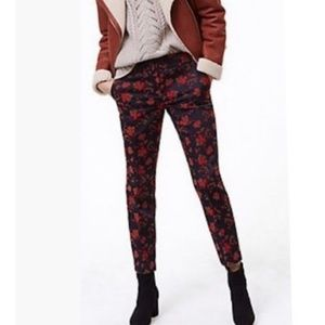 The Loft Scarlet Velvet Rivierra Pants size 2